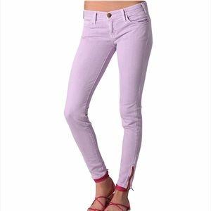 Current/Elliott Purple The Ankle Skinny Jeans